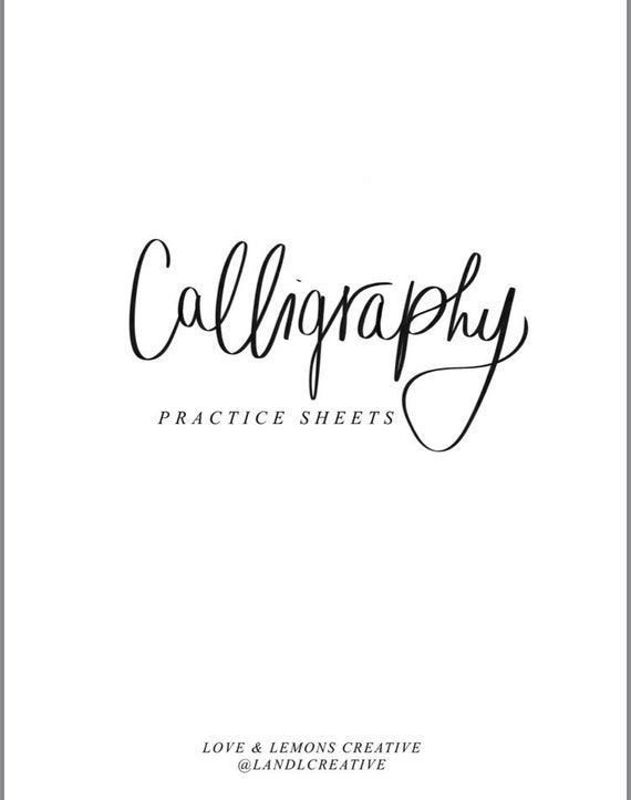 photo relating to Printable Calligraphy Practice Sheets named Printable Calligraphy Teach Sheets / Procreate Calligraphy Sheets