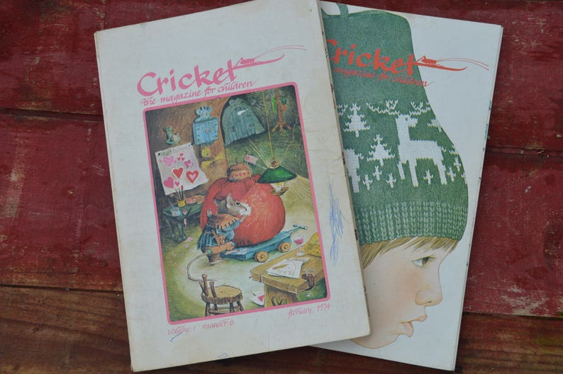 Cricket Children's Literary Magazines - 1974 Volume 1 Numbers 5 and 6 -  Short Stories, Riddles, Games, Songs - The New Yorker for Children