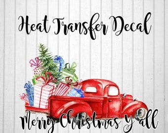 christmas heat transfer heat transfer decal christmas iron on decal