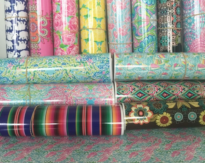 Featured listing image: Lilly Pulitzer Vinyl  // Lilly Vinyl Sheets // Patterned Outdoor Vinyl, Indoor Vinyl and HTV //  Patterns 58-126