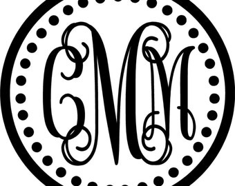 """Monogram Wall Decal 23"""" tall x 23"""" wide"""