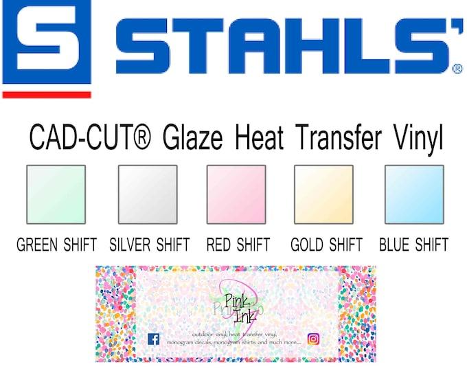 Featured listing image: Stahls'® CAD-CUT® Glaze Heat Transfer Vinyl sheet 12x20 inch iridescent shimmer htv