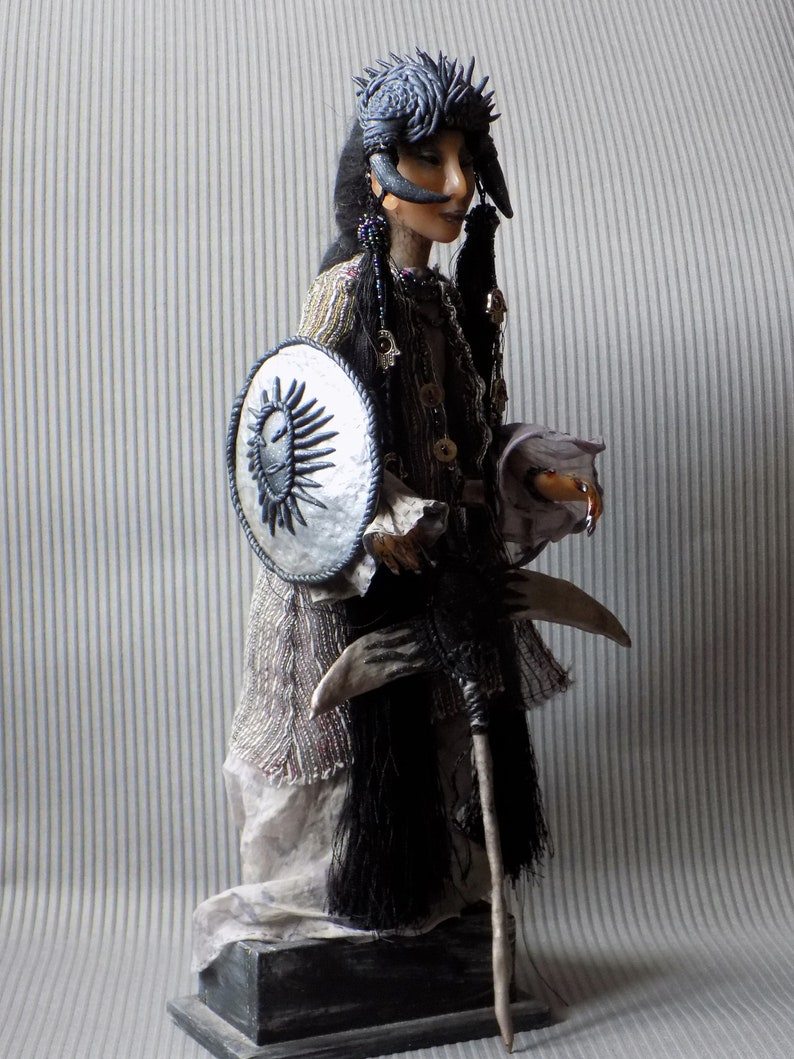 Dark side Guard for home and place protection 13 poseable art Guard Home Guardian Protector horror fantasy doll
