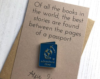 Of all the books in the world … - Passport Enamel Pin Badge Gift
