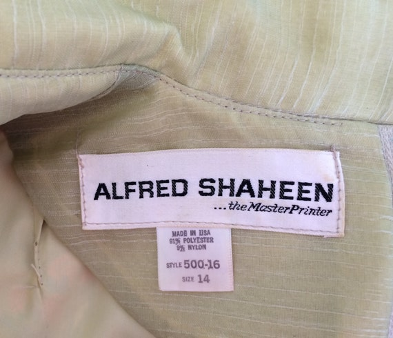 Alfred Shaheen 1970s Handprinted Tunic - image 5