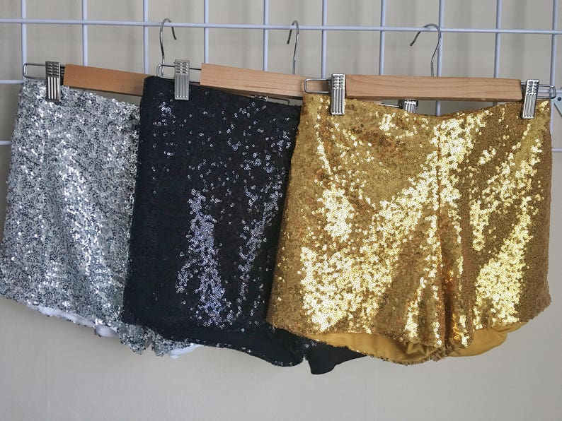 Ariana Sparkle Sequin Shorts  Sequin Shorts Stretch Sequin Shorts