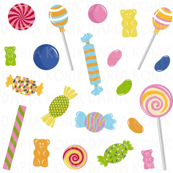candy clip art set sweets clipart jelly beans gummy bears etsy rh etsy com sweets clipart jpg sweets clipart free