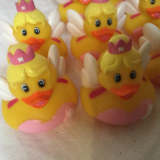 Tooth Fairy Rubber Duck 1 party favors/cupcake toppers | Etsy