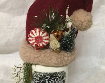 Mason Jar Christmas, mason jar,Santa, centerpiece, holiday decor, mason jar decor
