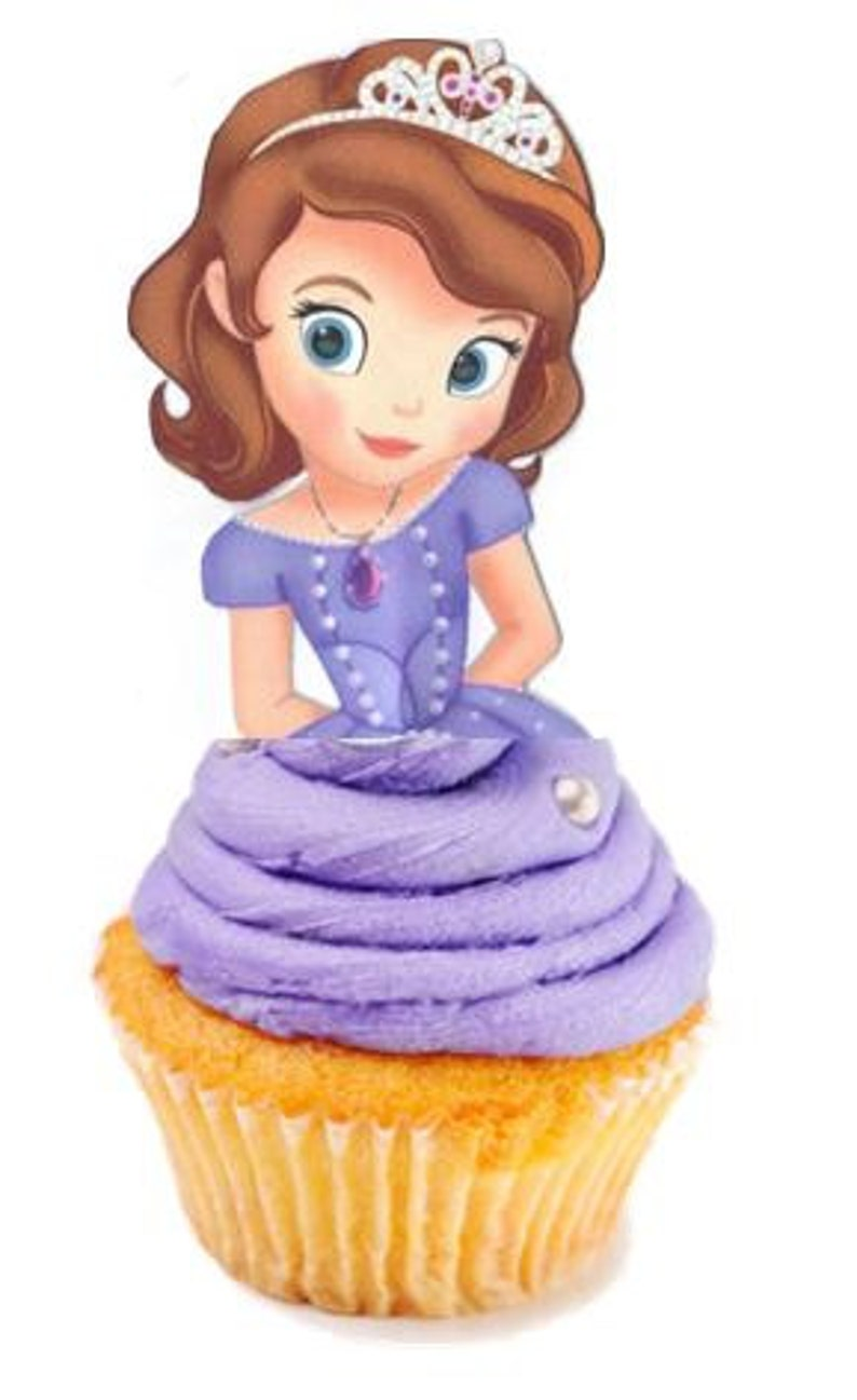 Your Cupcake Is Her Dress Sofia The First Toppers