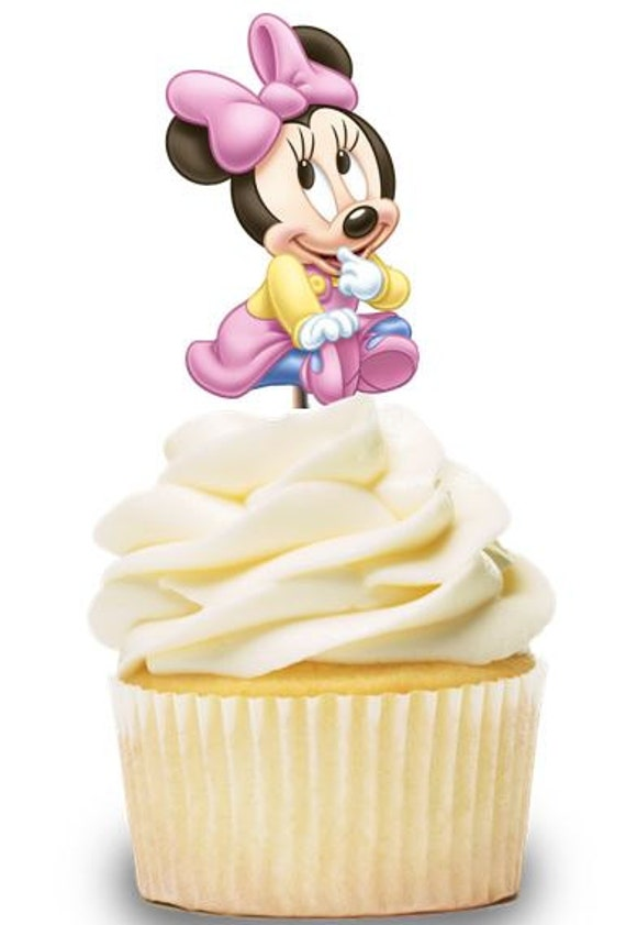 Strange Baby Minnie Mouse Cupcake Toppers Birthday Party Decorations Etsy Funny Birthday Cards Online Necthendildamsfinfo