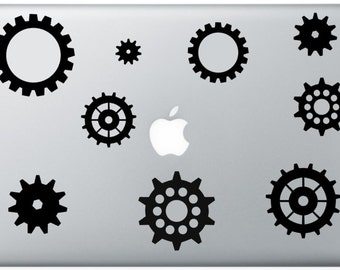 Gears Laptop Decal