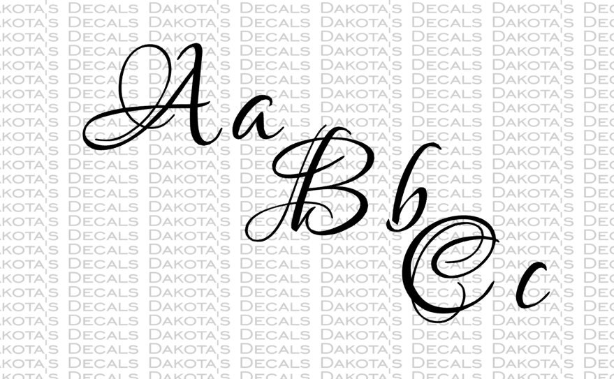 Fancy Font Svg For Download 94 Characters Letters Etsy