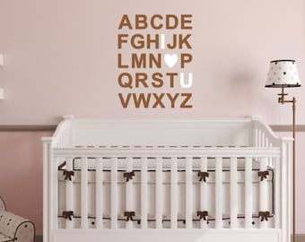 ABC I Love You Multicolor Nursery Wall Quote