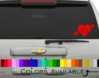 Cupid's Heart Personalized Car Decal