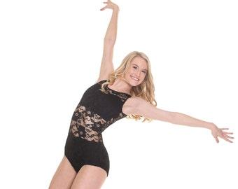 Shayne Lace Sleeveless Leotard Dancewear