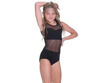 Shayne Mesh Sleeveless Leotard Dancewear