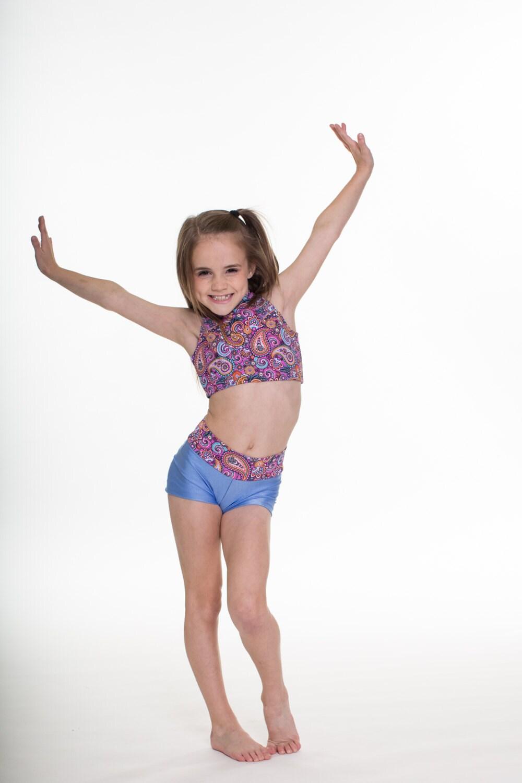 Presley Set Beute Shorts und Stehkragen Tanz oben Dancewear