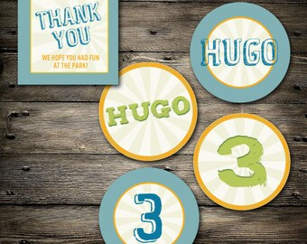 Park Party extras- Thank You tag and cupcake toppers