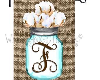 Custom Personalized Yard Sign Mason Jar Cotton