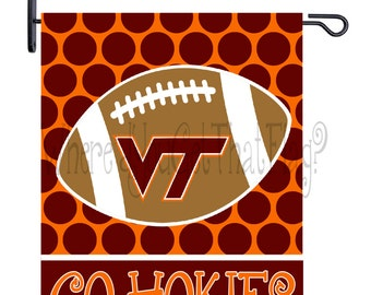 Merveilleux Custom Personalized Yard Sign Football Dots Virginia Tech Hokies