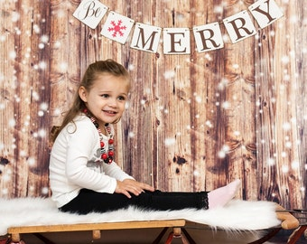 CHRISTMAS DECORATIONS, Be MERRY Banners, Christmas Photo signs