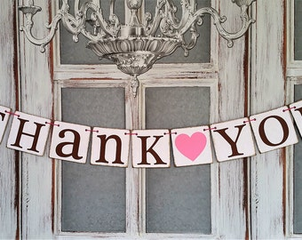 Thank You BANNERS,  WEDDING SIGNS,  Rustic Wedding Decorations, Wedding Banners