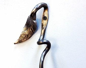 Sculptural Leaf Hook