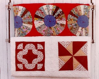 Wall Quilt Display,Heart Top Starter  Pair,Blacksmith Hooks,Wooden Bars,quilts,textiles,throws,storage,quilt hanger,quilt rack,lap quilts