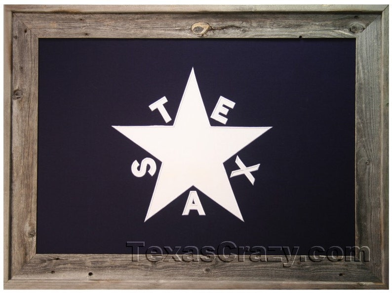 Extra Large Framed 3 X 5 Foot Republic Of Texas Flag In Etsy