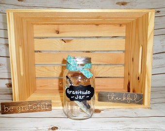 Gratitude Jar, Gift for Him, Mason Jar, Give Thanks, Thank You Gift, Mindfulness Practice, Joy, Happy Thoughts, Family, Sharing Love, Hope