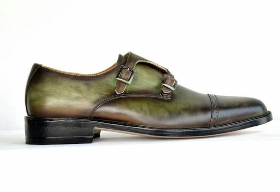chukka bonne mocassins chaussures année chaussures welt moine coupe double derby berluti style patine toute Hommes cuir sale brogue personnalisés PkXZuwiTO