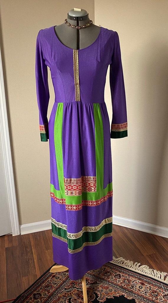 70s Eloise Curtis Dress 70s Boho Maxi Dress 70s Et