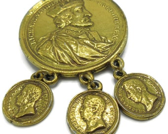 1825 pressed brass medal charles the tenth of france visit to Navarre