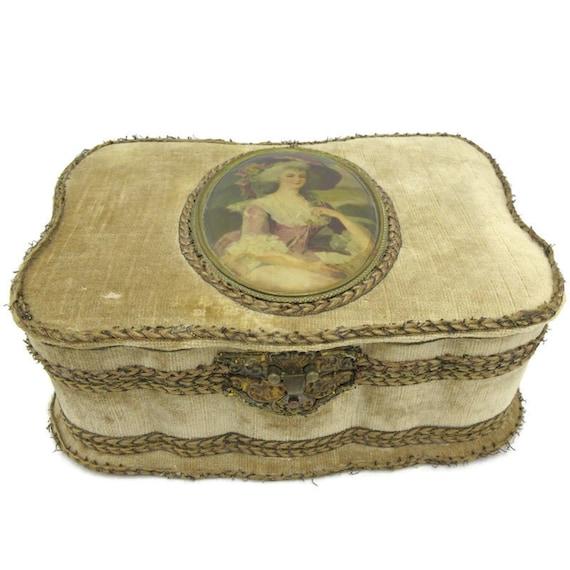 Victorian Velvet Vanity Box 1800's