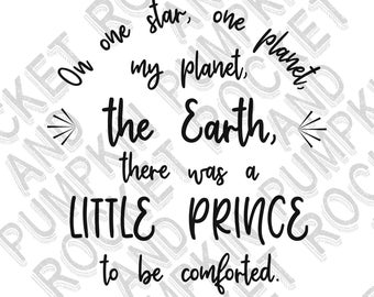 The Little Prince Quote SVG Download