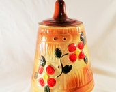 Vintage Butter Churn, Flowers, American Bisque