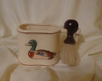 SHAVING CUP ~  With Brush, vintage 60's