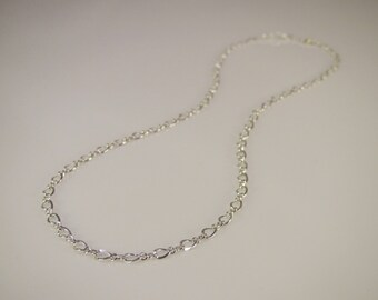 90173caa7b976 Sterling Silver Discreet Day Collar   Slave Necklace - Permanent Locking  Figure 8 Infinity Chain - Sized to Order