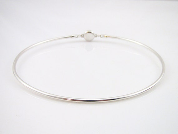 sterling silver discreet day collar 10 gauge round wire w