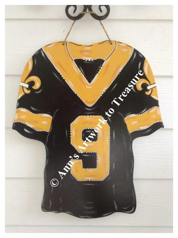half off 57b87 72542 Football, Jersey, New Orleans, Saints, Louisiana, Sports, Door Hanger