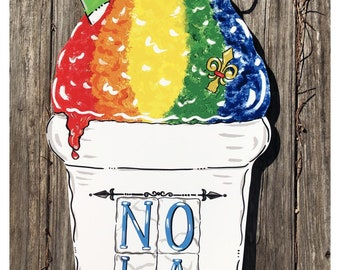 Snowball Door Hanger, Summer, NOLA, Snoball, New Orleans, Summertime