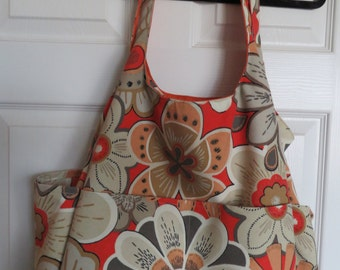 Beach Bag by Photo-Totes  - TaupeOrange