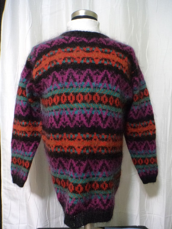 Vintage Mohair Pullover Sweater (Size: Women's Lar