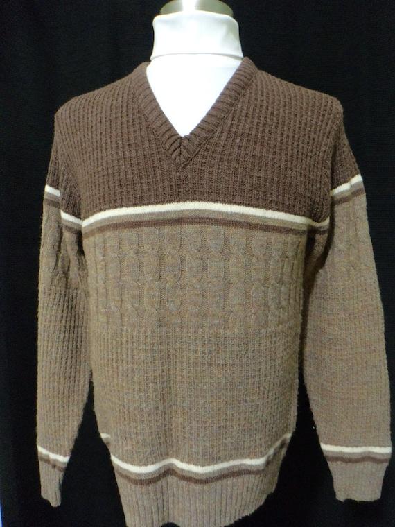 Wool Sweater G Hook Tweed Look Sweater Size: Women/'s Medium? 90s Sweater J Vintage Crew Neck Sweater Made in USA 80s Sweater,