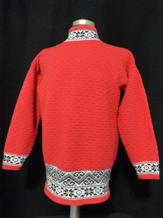 Vintage Red Ski Sweater, Vintage GAP Sweater (Size