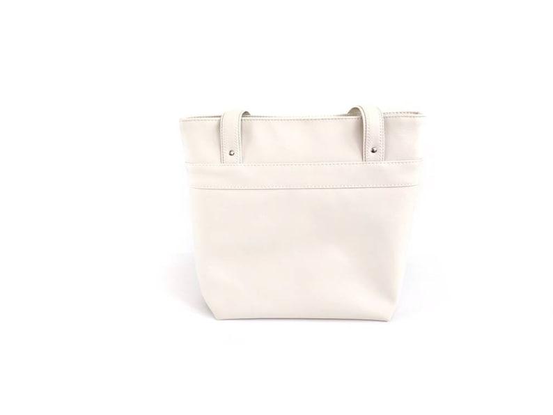 Neutral Tote Bag Off-White Shoulder Bag Large White Purse Beige Travel Bag Off-White Work Bag Cream Tote Bag Small Tote Bag Brown