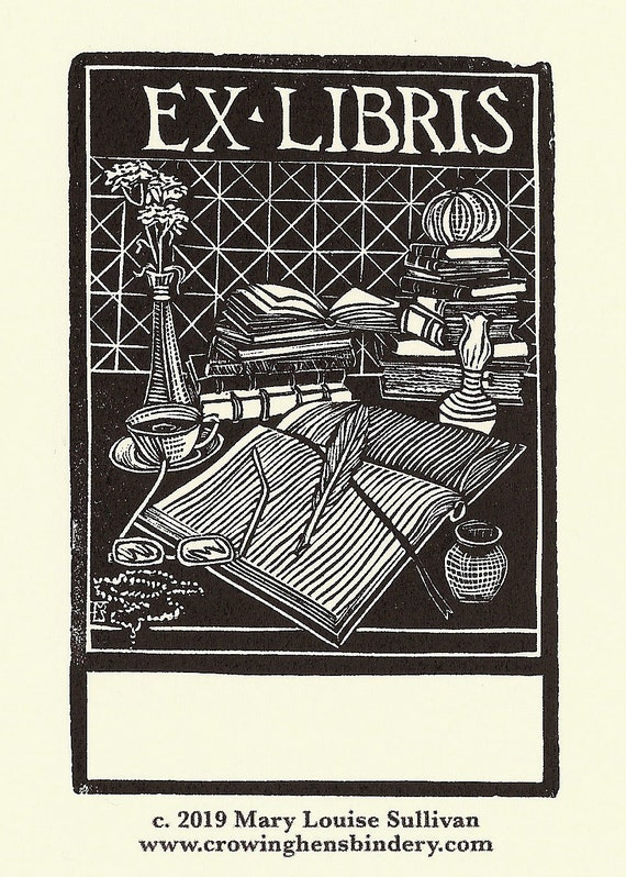 "Library /""EX LIBRIS/"" Multiple Item Listing Printing Blocks. BOOKPLATES"