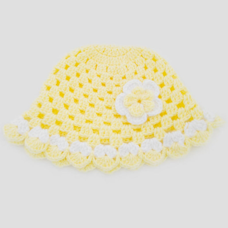 Girls Two-Colored Handmade Crochet Poncho With Matching Hat Set