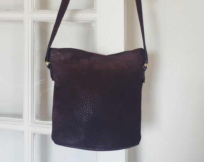 Vintage coach crossbody purse | coach bucket bag | brown coach purse | Able Shoppe | coach handbag | coach purse
